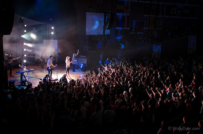 Worth Dying For leading worship