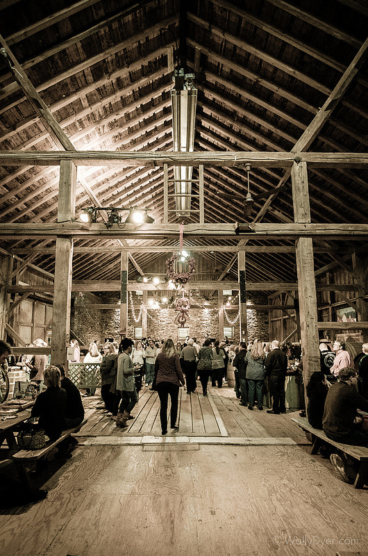 The inside of the beautiful boordy winery barn